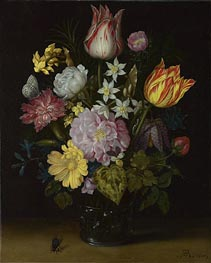 Ambrosius Bosschaert | Flowers in a Glass Vase, 1614 | Giclée Canvas Print
