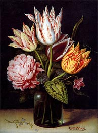 Ambrosius Bosschaert | A Still Life with a Bouquet of Tulips, undated | Giclée Canvas Print