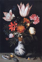 Ambrosius Bosschaert | Flowers in a Vase | Giclée Canvas Print