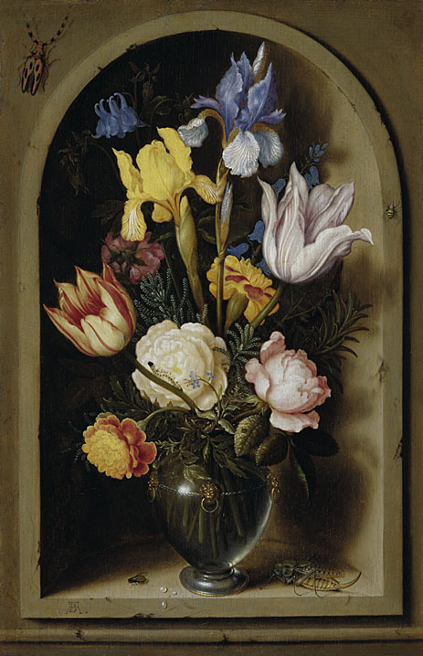Bouquet of Flowers in a Niche, undated | Ambrosius Bosschaert | Painting Reproduction