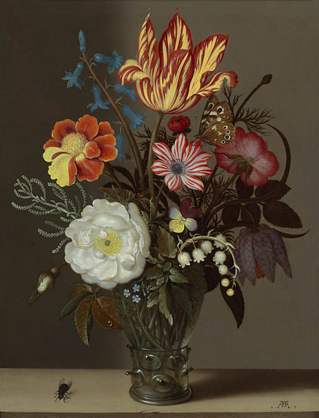 Ambrosius Bosschaert | Still Life of Flowers in a Glass Roemer, undated | Giclée Canvas Print