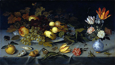 Still Life with Fruit and Flowers, c.1620/21 | Ambrosius Bosschaert | Painting Reproduction