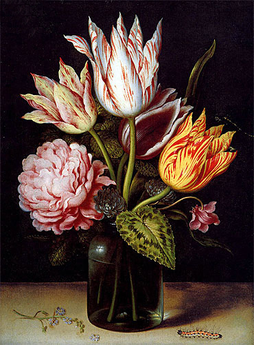 A Still Life with a Bouquet of Tulips, undated | Ambrosius Bosschaert | Painting Reproduction