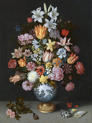 Still Life of Flowers in a Wan-Li Vase, c.1609/10 | Ambrosius Bosschaert | Painting Reproduction