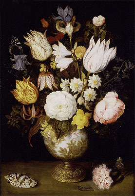 A Vase of Flowers, c.1609 | Ambrosius Bosschaert | Painting Reproduction