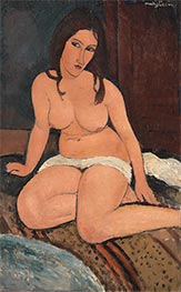 Seated Nude, 1917 by Modigliani | Giclée Canvas Print