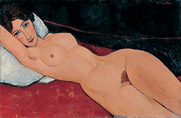 Reclining Female Nude, 1917 by Modigliani | Giclée Canvas Print