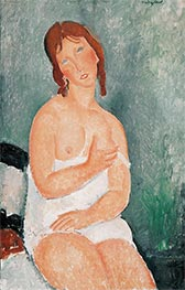 Young Woman in a Shirt, 1918 by Modigliani | Giclée Canvas Print