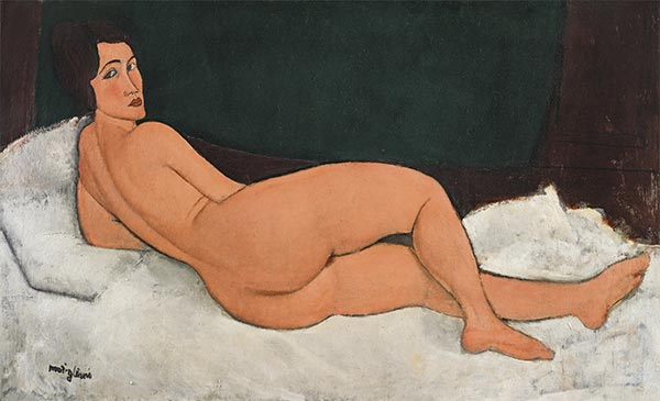 Reclining Nude, 1917 by Modigliani | Giclée Canvas Print