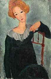Modigliani | Woman with Red Hair | Giclée Canvas Print