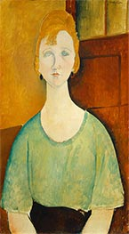 Modigliani | Girl in a Green Blouse | Giclée Canvas Print