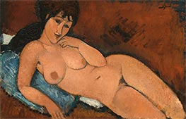 Nude on a Blue Cushion, 1917 by Modigliani | Giclée Canvas Print