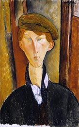 Young Man with a Cap, 1919 by Modigliani | Giclée Canvas Print