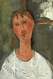 Girl in White Shirt, c.1915 by Modigliani | Giclée Canvas Print