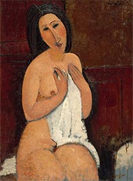 Seated Nude with a Shirt, 1917 by Modigliani | Giclée Canvas Print