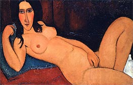 Modigliani | Reclining Nude with Loose Hair | Giclée Canvas Print