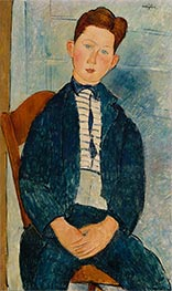 Modigliani | Boy in a Striped Sweater | Giclée Canvas Print