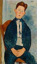 Modigliani | Boy in a Striped Sweater | Giclée Canvas Print