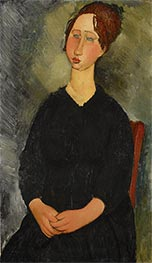 Little Servant Girl, c.1916 by Modigliani | Giclée Canvas Print