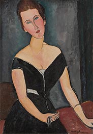 Madame G. van Muyden, c.1916/17 by Modigliani | Giclée Canvas Print
