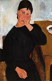 Elvira Resting at a Table, 1919 by Modigliani | Giclée Canvas Print