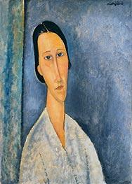 Madame Zborowska, 1918 by Modigliani | Giclée Canvas Print