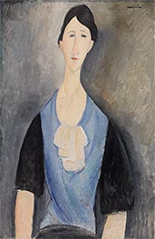 Young Woman in Blue, 1919 by Modigliani | Giclée Canvas Print