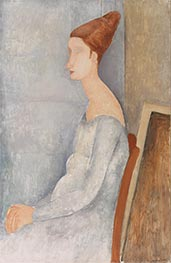 Portrait of Jeanne Hébuterne, 1918 by Modigliani | Giclée Canvas Print