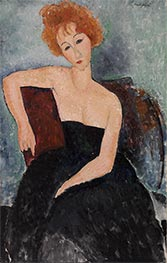 Redheaded Girl in Evening Dress, 1918 by Modigliani | Giclée Canvas Print
