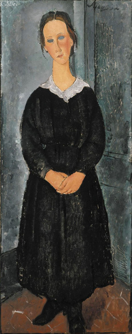 The Servant Girl, c.1918 | Modigliani | Painting Reproduction