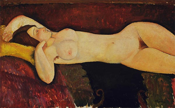 Reclining Nude, c.1919 | Modigliani | Painting Reproduction