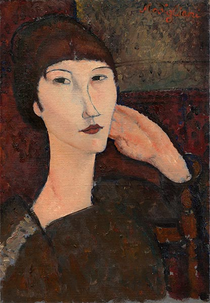 Adrienne (Woman with Bangs), 1917 | Modigliani | Painting Reproduction