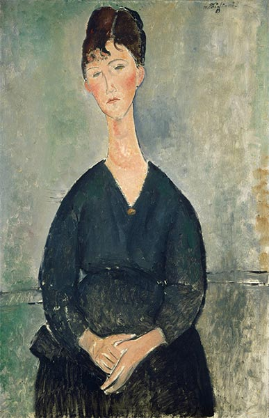 Café Singer, 1917   Modigliani   Painting Reproduction