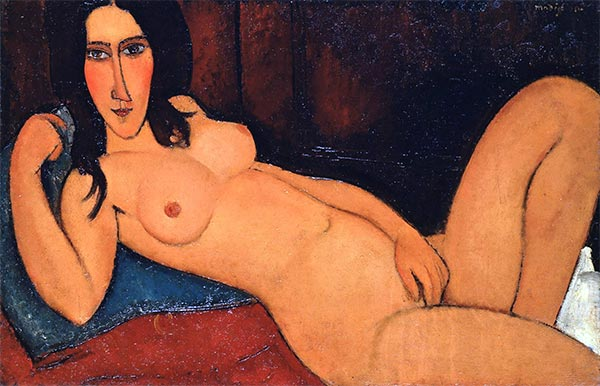Modigliani | Reclining Nude with Loose Hair, 1917 | Giclée Canvas Print