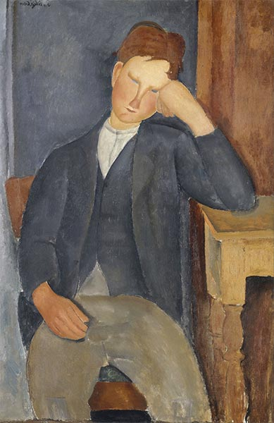 The Young Apprentice, c.1918/19 | Modigliani | Painting Reproduction