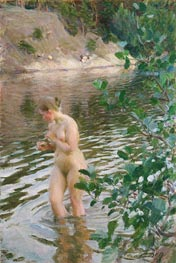 Frileuse (Shivering Girl), 1894 by Anders Zorn | Giclée Canvas Print