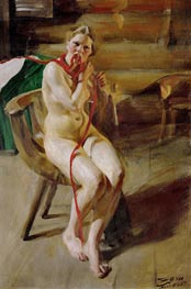 Nude Braiding her Hair, 1907 by Anders Zorn | Giclée Canvas Print