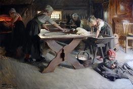 Anders Zorn | Baking Bread | Giclée Canvas Print