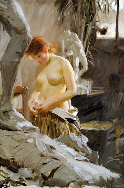 In Wikström's Studio, 1889 | Anders Zorn | Painting Reproduction