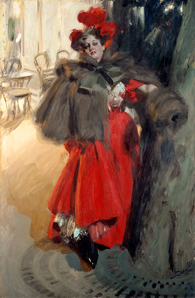 Night Effect, 1895   Anders Zorn   Painting Reproduction
