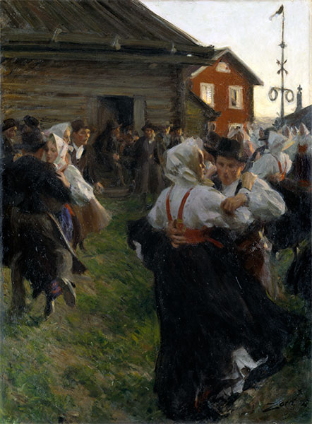 Midsummer Dance, 1897   Anders Zorn   Painting Reproduction