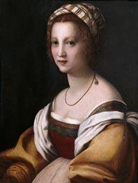 Andrea del Sarto | Portrait of a Woman, c.1514 | Giclée Canvas Print