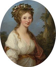 Portrait of a Young Woman (Anna Charlotta Dorothea von Medem), 1785 by Angelica Kauffmann | Giclée Canvas Print