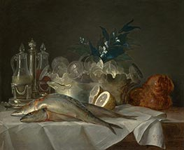 Still Life with Mackerel, 1787 by Vallayer-Coster | Giclée Canvas Print