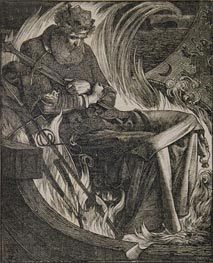 Sandys | Death of King Warwulf, 1862 | Giclée Paper Print