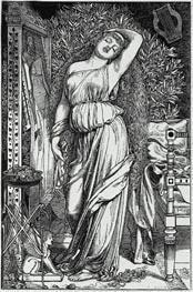 Sandys | Danae in the Brazen Chamber, 1888 | Giclée Paper Print