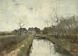 House on a Ditch, c.1870/88 by Anton Mauve   Giclée Canvas Print