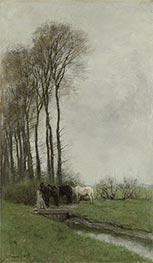 Horses at the Fence, 1878 by Anton Mauve   Giclée Canvas Print