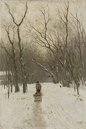Winter in the Scheveningen Woods, c.1870/88 by Anton Mauve   Giclée Canvas Print
