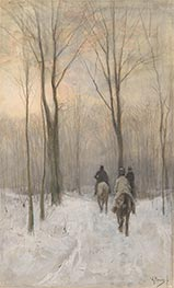 Riders in the Snow in the Haagse Bos, 1880 by Anton Mauve   Giclée Paper Print
